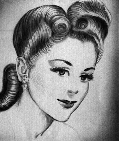 hair styles of the 1940 s