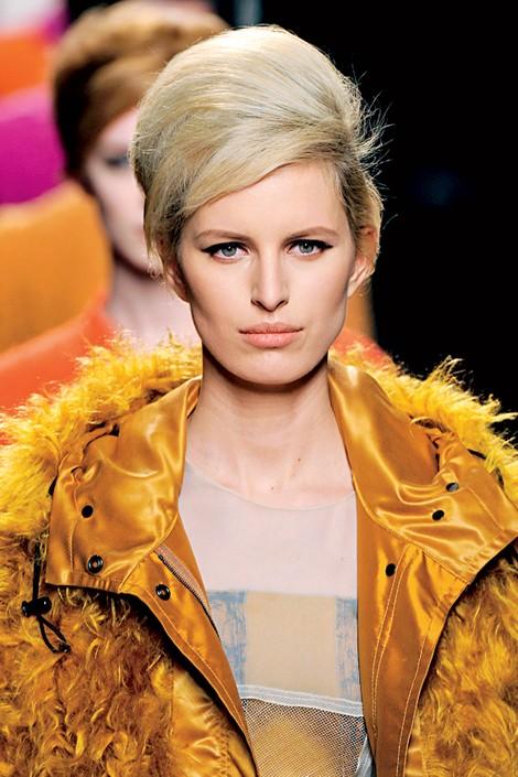 2011 Hair Trends Beehive Hair Bottega Veneta