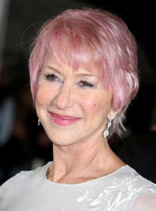helen-mirren-short-haircut-pink-short-pixie-hairstyle-for-women-over ...