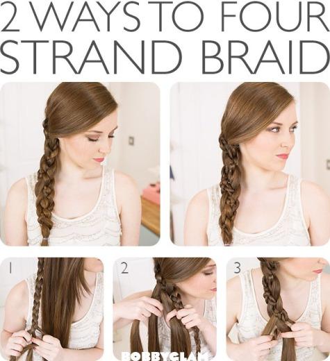 2 Ways To Four Strand Braid