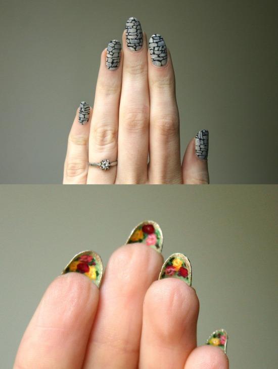 Ящерка на ногтях фото