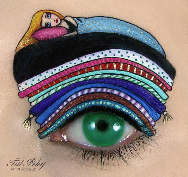Creative Eye Makeup Illustrations by Tal Peleg