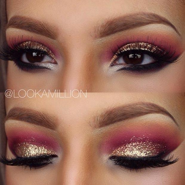 Makeup looks pink