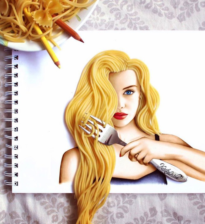 GALLERY: 19-Year-Old Artist Uses Real-Life Objects To Complete Her Illustrations