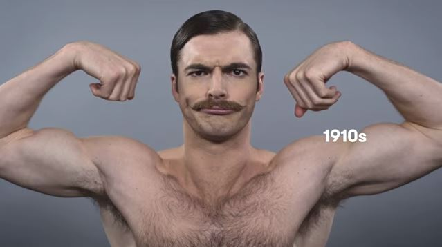Video: 100 Years of Beauty in 1 Minute: American Men