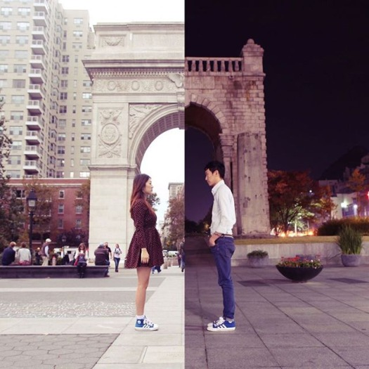 Couple In Long Distance Relationship Connects By Creating Combo Pictures (16 Pics)