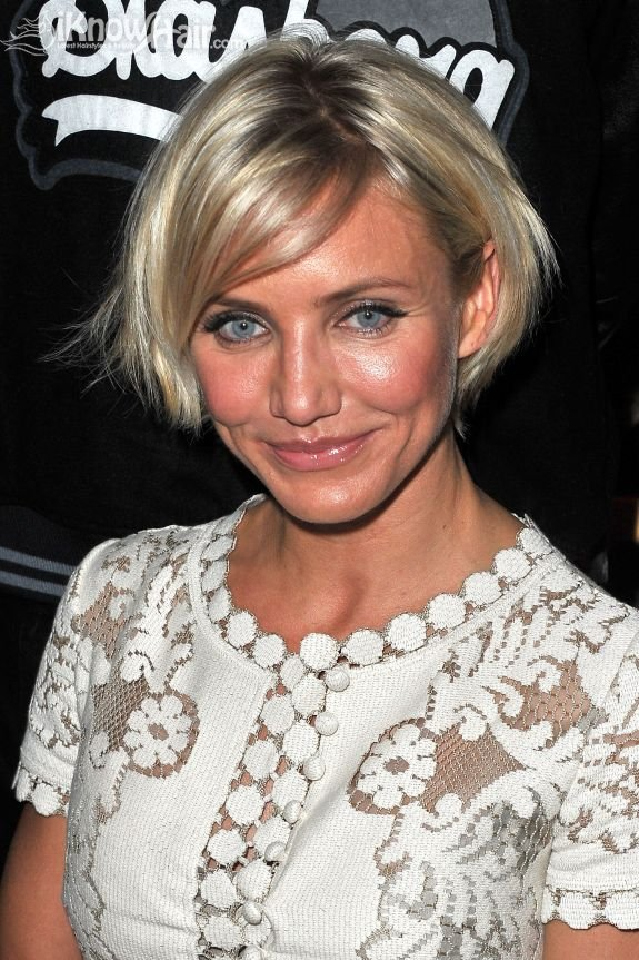 Cameron diaz hairstyles cameron diaz short hair bob hairstyle cameron diazs new short haircut urmus Image collections