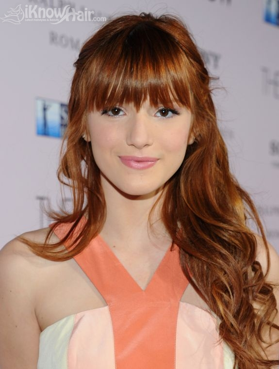 Celebrities with red hair red hair styles hairstyles - Peinados con flequillos ...