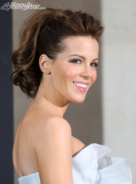 Celebrity Ponytail Hairstyles - Kate Beckinsale Attends 'Underworld Awakening' Photocall