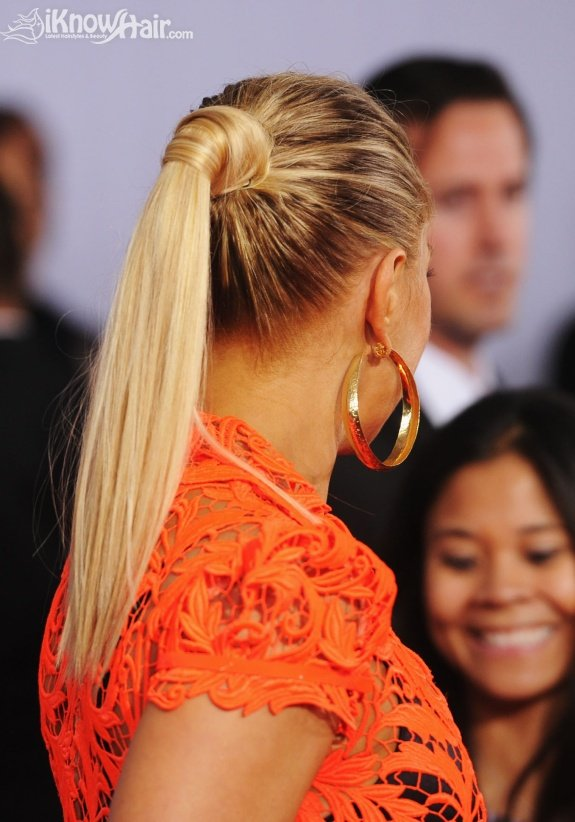 Celebrity Ponytail Hairstyles - The 54th Annual GRAMMY Awards - Arrivals