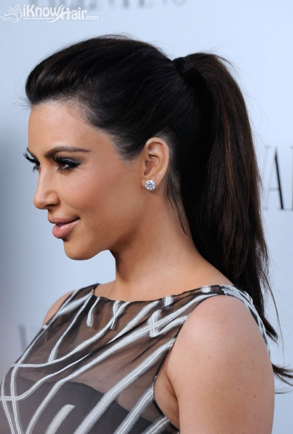 Celebrity Ponytail Hairstyles - Valentino Rodeo Drive Flagship Opening
