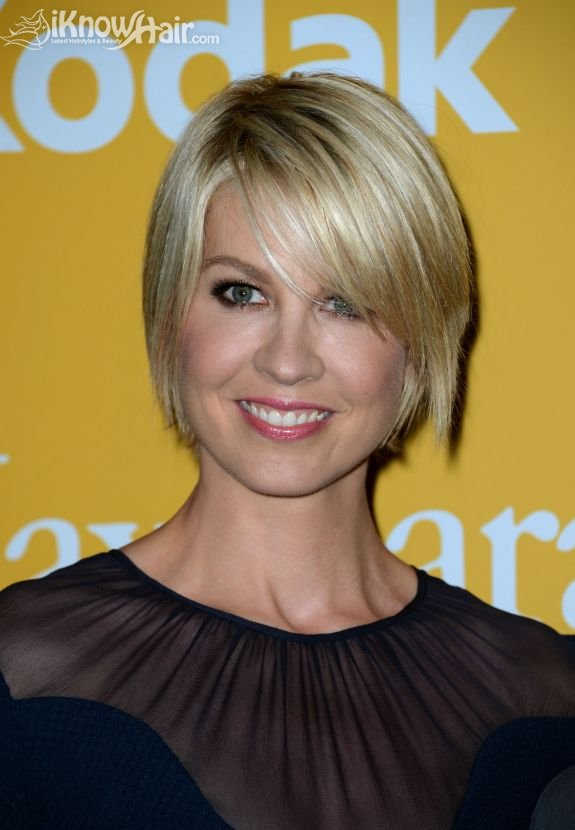 Short Chin Length Hairstyle Layered with Wispy Ends