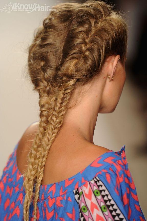 2011 2012 Hair Trends Braid Hairstyles Fishtail