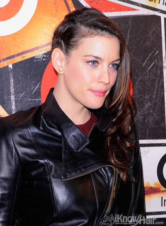 Half Head Shave Liv Tyler Side Braid Hairstyle Braided