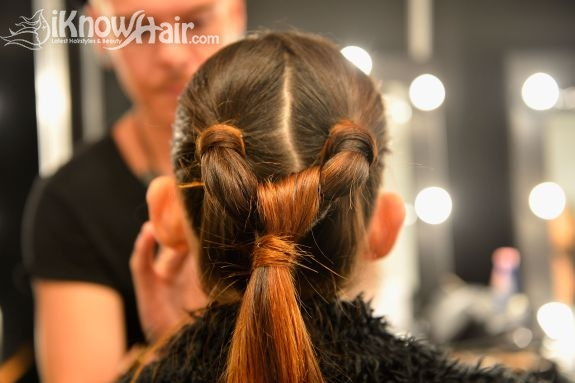 Triple Ponytail Hairstyle