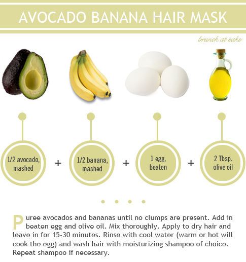 avocado banana hair mask home remedy