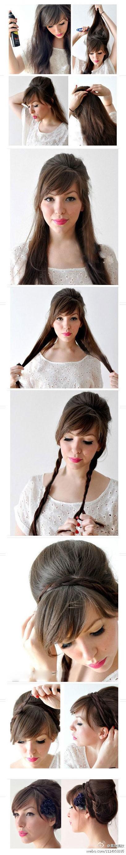 Как сделать красивую прическу из волос средней длины