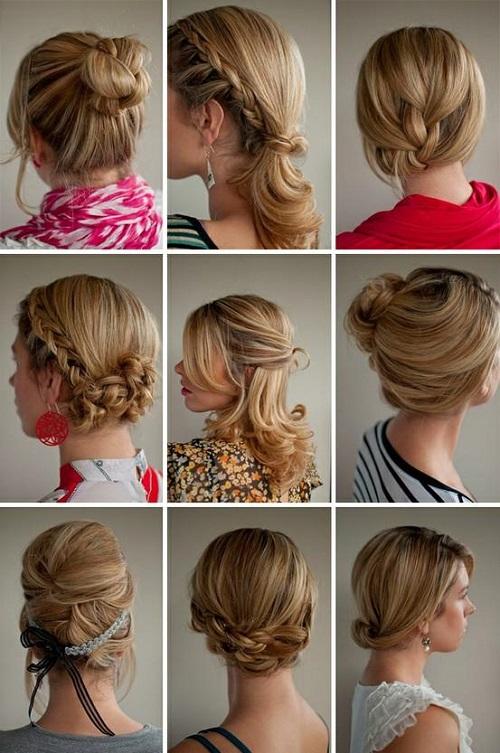 Варианты причесок на средние волосы на каждый день