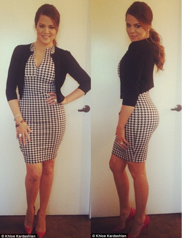 Khloe Kardashian Flaunts Slim Figure On Instagram