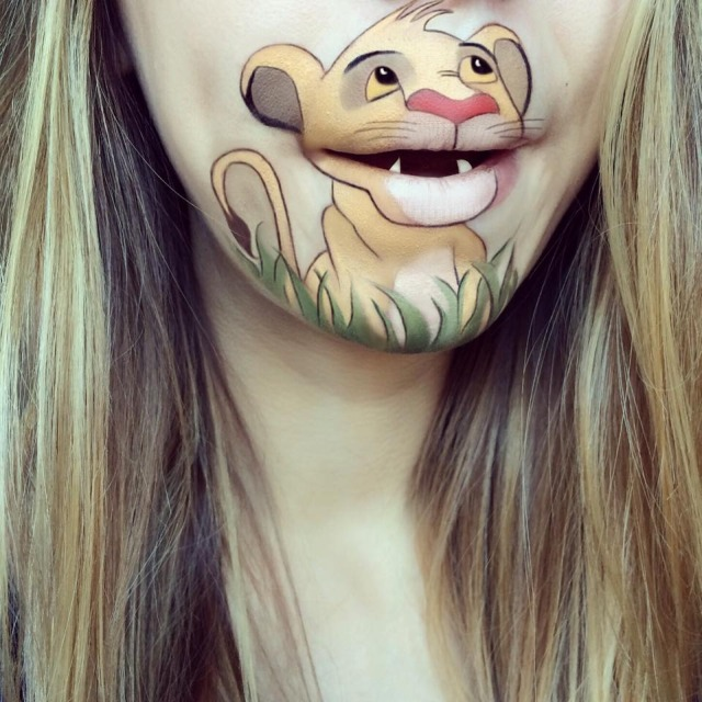 Makeup Artist Turns Her Lips Into Cute Cartoon Characters: 52 amazing photos