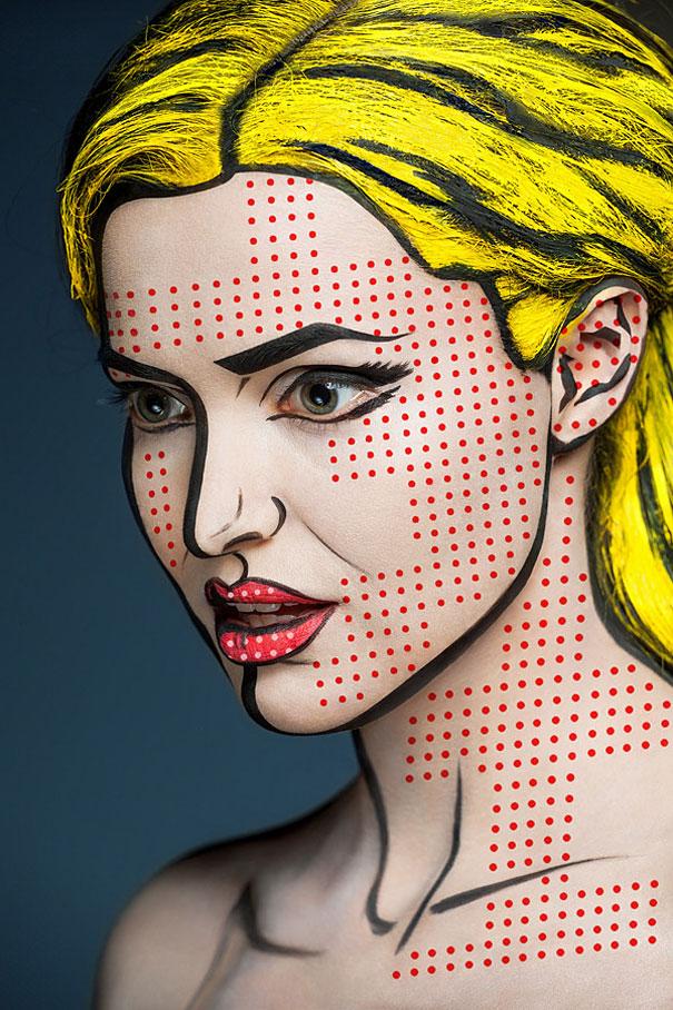 Amazing Face Paintings by Valeriya Kutsan (gallery)