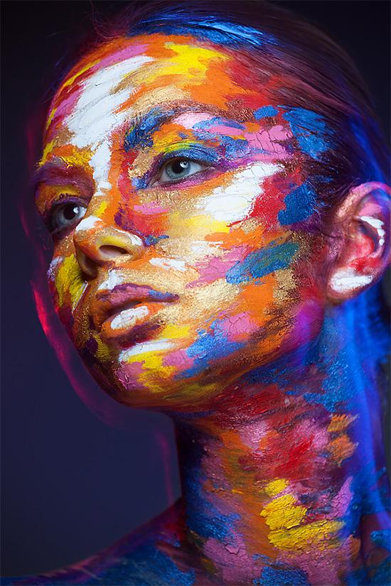 Amazing Face Paintings by Valeriya Kutsan