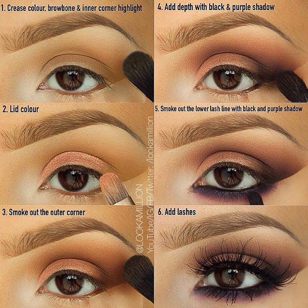 Dark Makeup Ideas For Brown Eyes