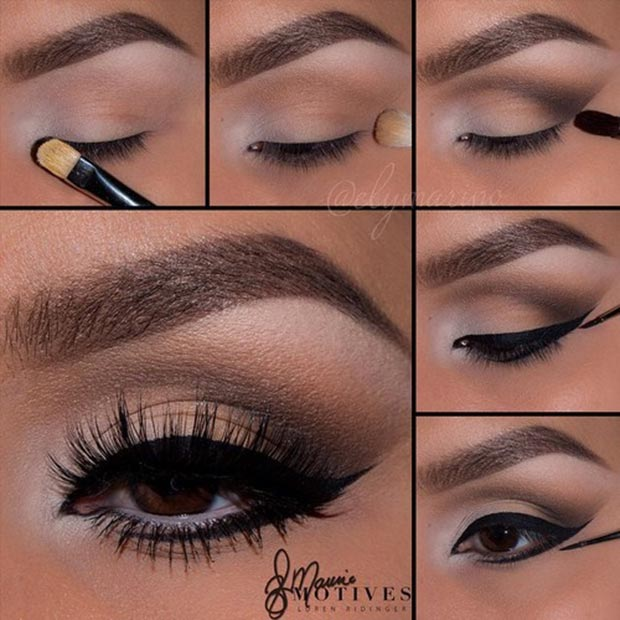 how to put makeup for brown eyes