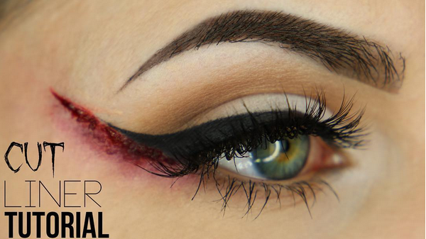 Halloween Makeup Cut Liner Tutorial