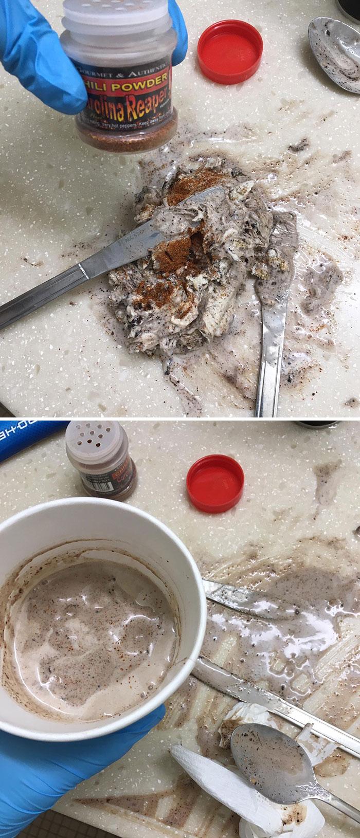 I Mixed Carolina Reaper Powder Into Half A Tub Of Ice Cream As Revenge For Food Thief At My Community Freezer