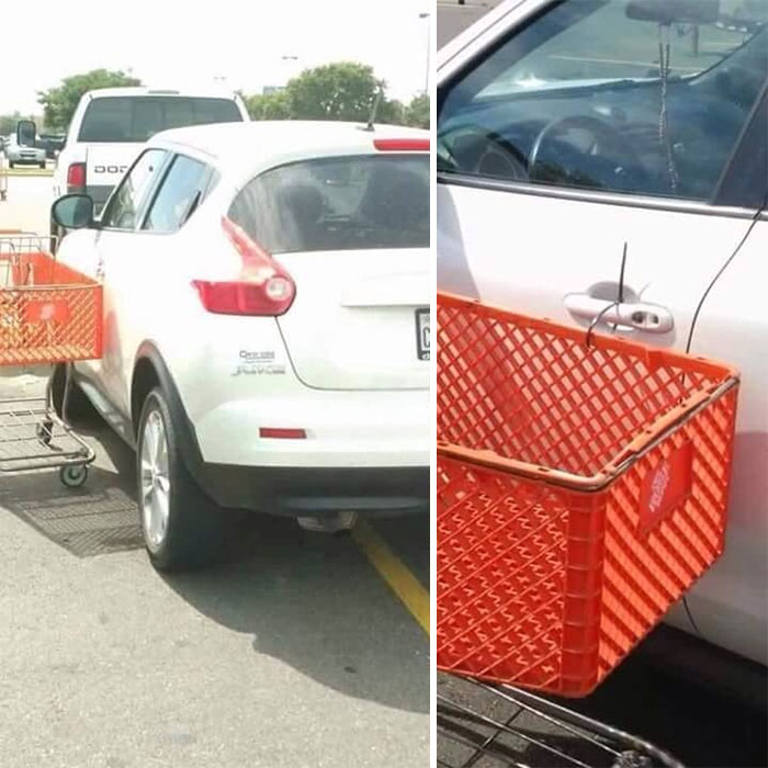 You Park In 2 Spots, I Zip Tie A Cart To Your Car