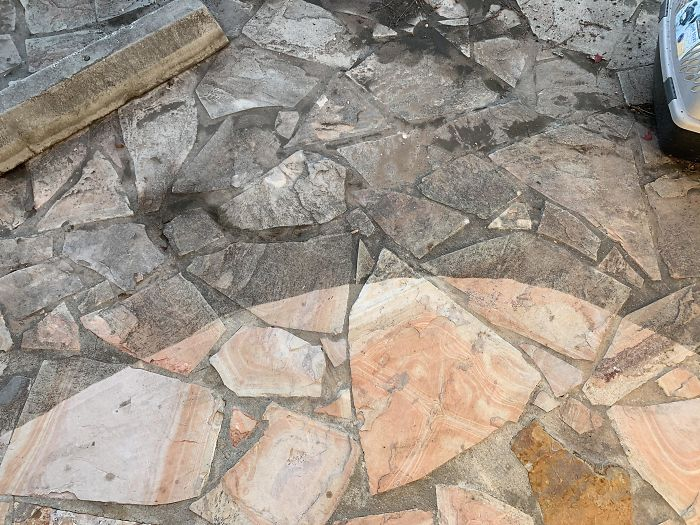 I Never Knew These Stones Had Such An Awesome Pattern. At Least 10 Years Since Cleaned