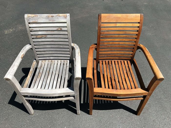 Before & After: Power Washing Our Patio Furniture