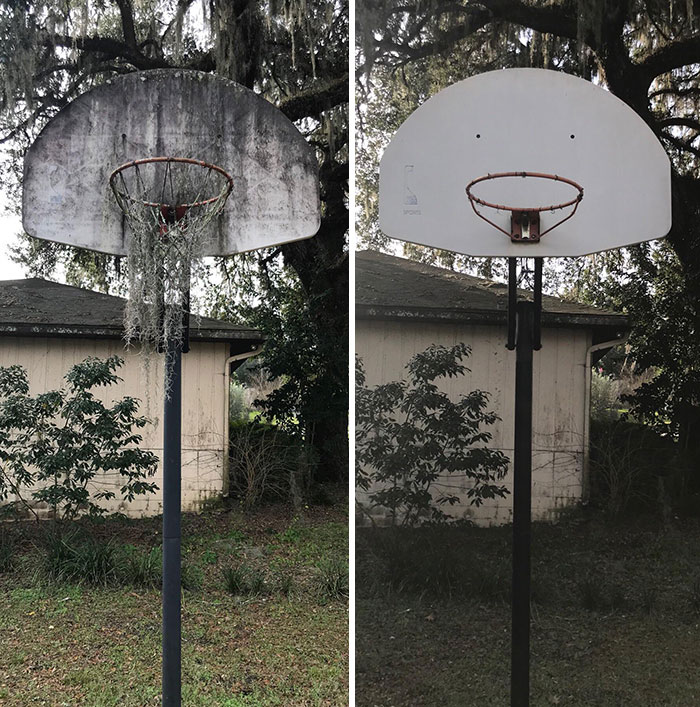 Before And After. Just Need A New Net Now
