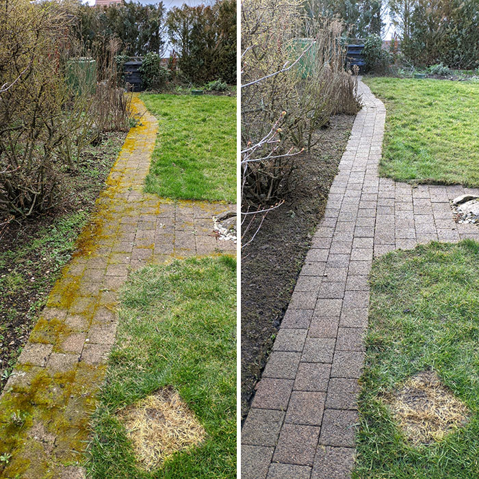 No Video, But The Satisfaction Of Removing All That Moss Already Made Buying The Pressure Washer Worth It