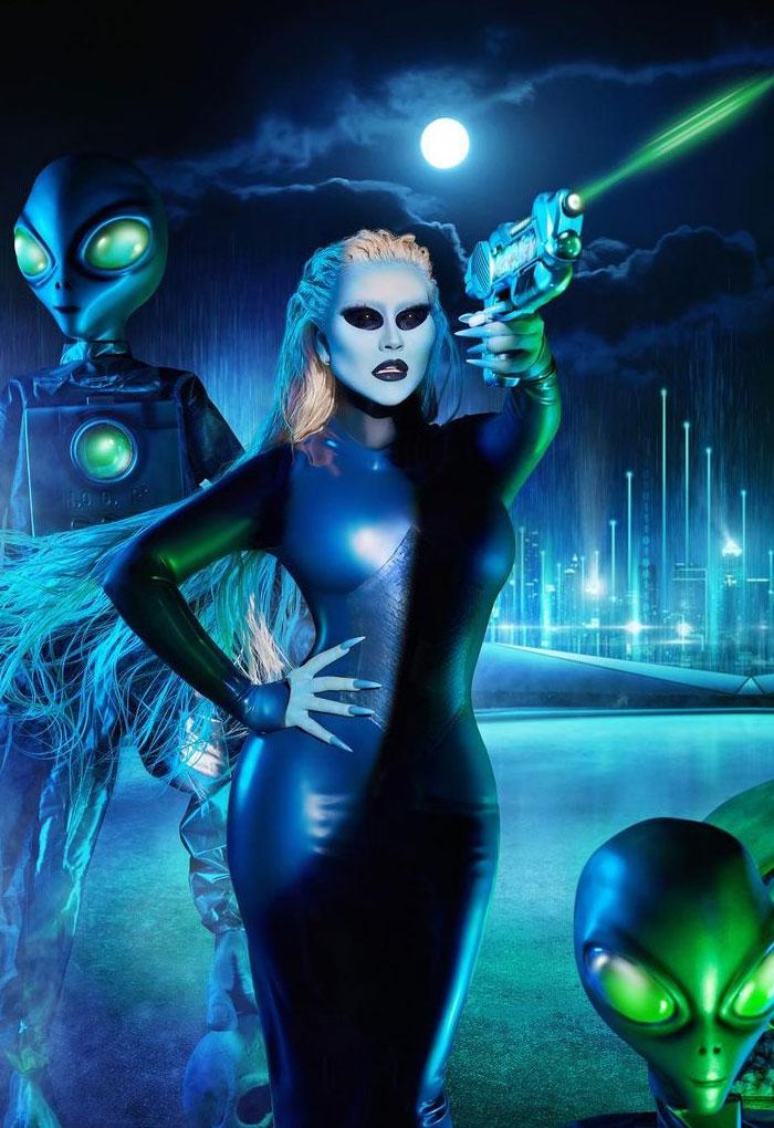 Christina Aguilera As An Alien