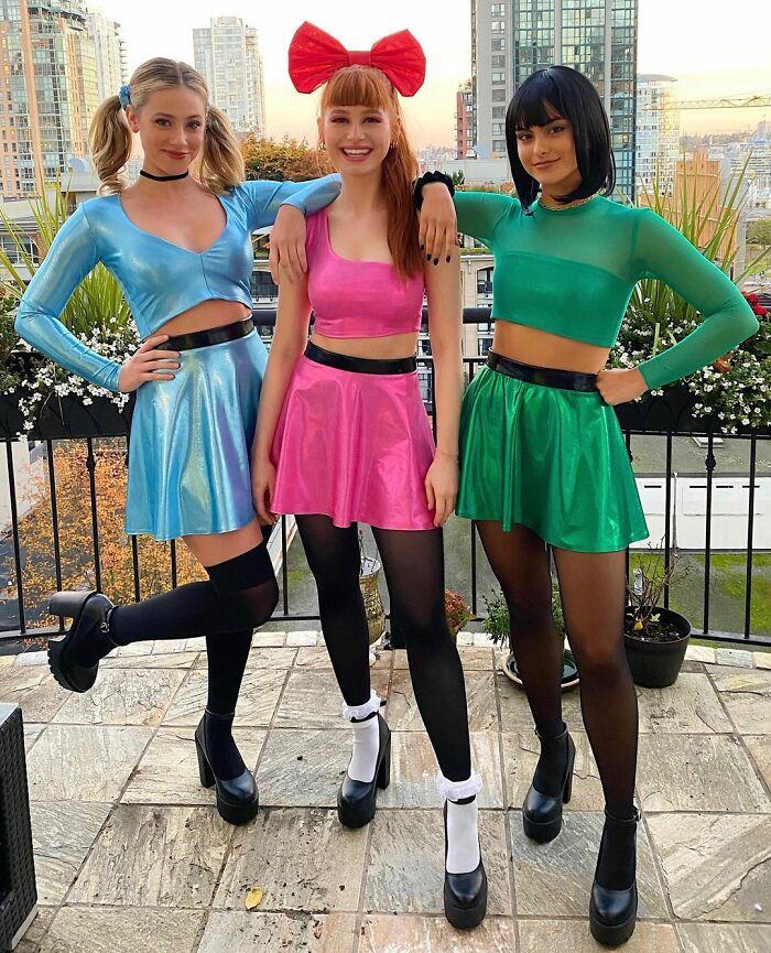 Lili Reinhart, Madelaine Petsch, And Camila Mendes As Powerpuff Girls
