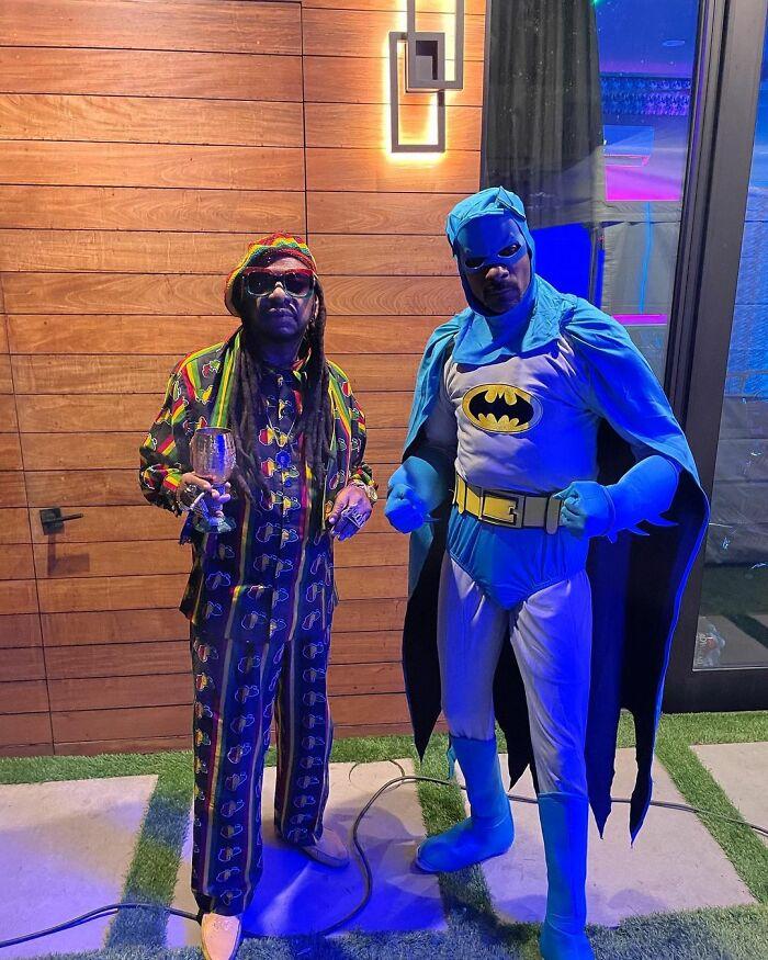 Snoop Dogg And Don Magic Juan As Beanie Man And Batman