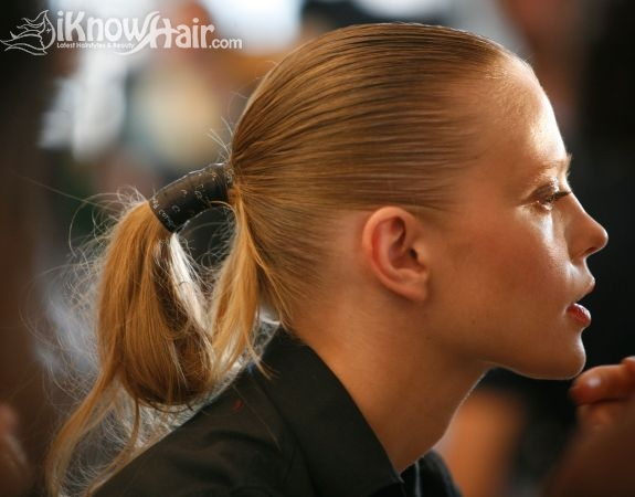 Looped Ponytail Hairstyle