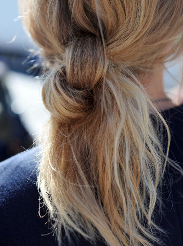 Double Knot Ponytail Hairstyles