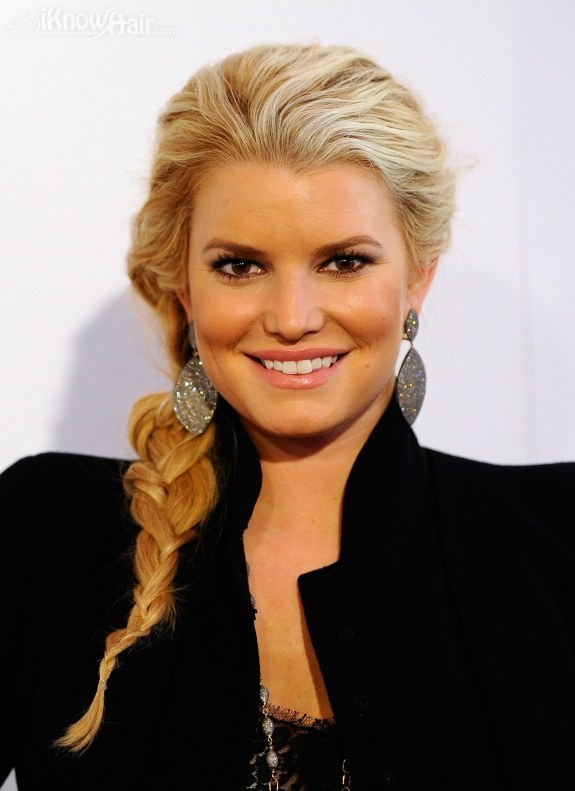Jessica Simpson poses during California first lady Maria Shriver's annual Women's Conference