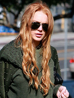 Lindsay Lohan Red Hair Color 2012