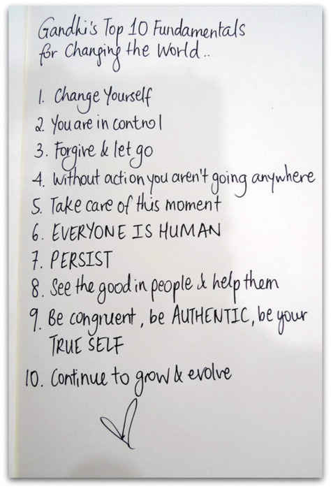 2 - Gandhi`s Top 10 Fundamentals for Changing the World